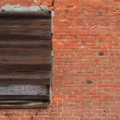 Stock Photo: Brick Wall Boarded window