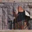 Deteriorating Rusty Steel Door — Stock Photo