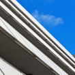 Angular building blue sky — Stock Photo
