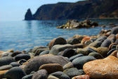 Sea stones on seacoast — Stock Photo
