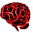 Stock Photo: Glowing brain