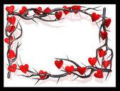 Hearts burs frame — Stock Photo