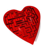 Heart maze — Stock Photo