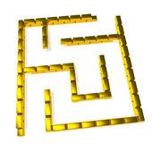 Gold maze — Stock Photo