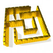 Gold maze - Stock Photo