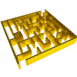 Stock Photo: Gold maze