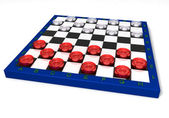Glass checkers — Stock Photo