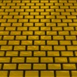 Stock Photo: Gold ingots road