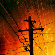 Stock Photo: Power Lines Pollution