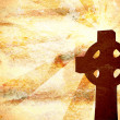 Christian Cross Background - Stock Photo