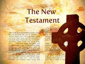 New Testament Bible Background — Stock Photo