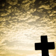 Silhouette of a Cross - Stock Photo