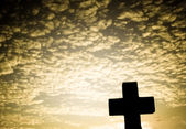 Silhouette of a Cross — Stock Photo