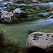 Panorama of a Flowing Alpine Stream — Stock Photo