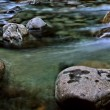 Stock Photo: Panorama of a Flowing Alpine Stream