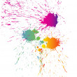 Colorful splashes — Stock Vector