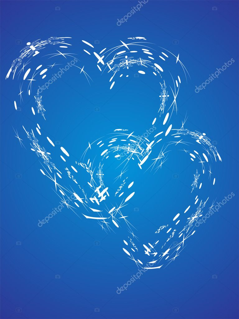 Vector illustration of an abstract colorful heart background — Stock Vector #2721900