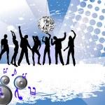 fröhlich tanzen — Stockvektor