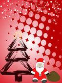 Рождественская сцена — Cтоковый вектор