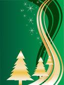 Arbres de Noël or — Vecteur
