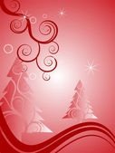Cena de inverno - cartão de natal — Vetor de Stock