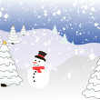 Winter scene - christmas card — Stock Vector #2869982