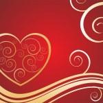 Elegant valentine`s heart — Stock Vector #2915502