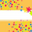 flores de colores — Vector de stock