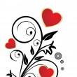 Romantic valentine hearts — Stock Vector