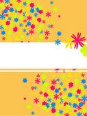 Fleurs colorées — Vecteur