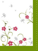 Floral banner — Stock Vector