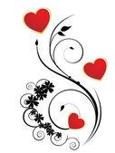 浪漫的情人节的心 — 图库矢量图片
