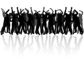Dançando — Vetor de Stock