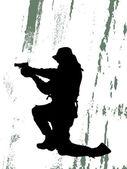Soldier — Stock Vector