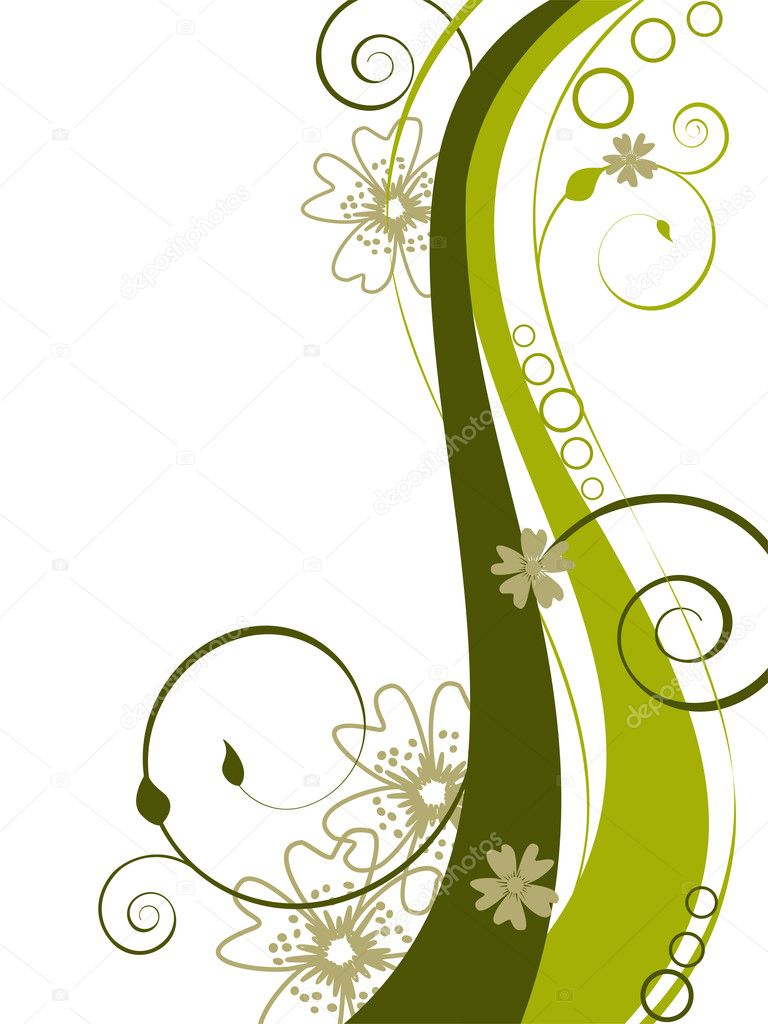 Vector illustration of a beautiful floral background — Image vectorielle #3046435