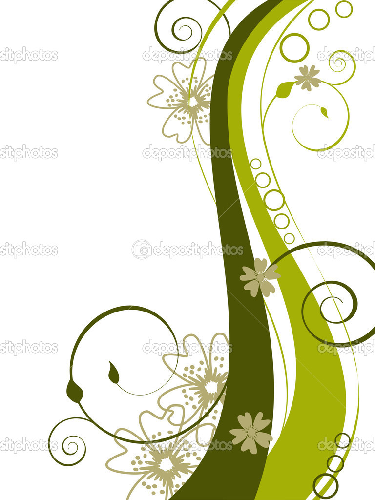 Vector illustration of a beautiful floral background  Stock Vector #3046435