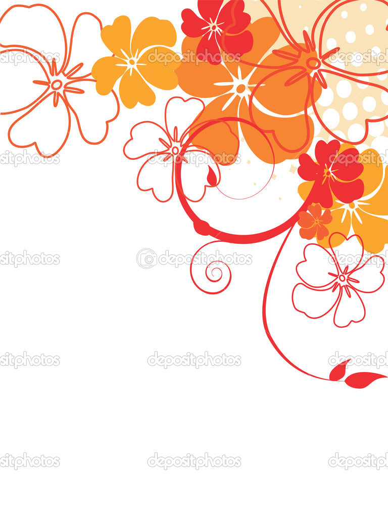 Vector illustration of a beautiful floral background  Vettoriali Stock  #3046579