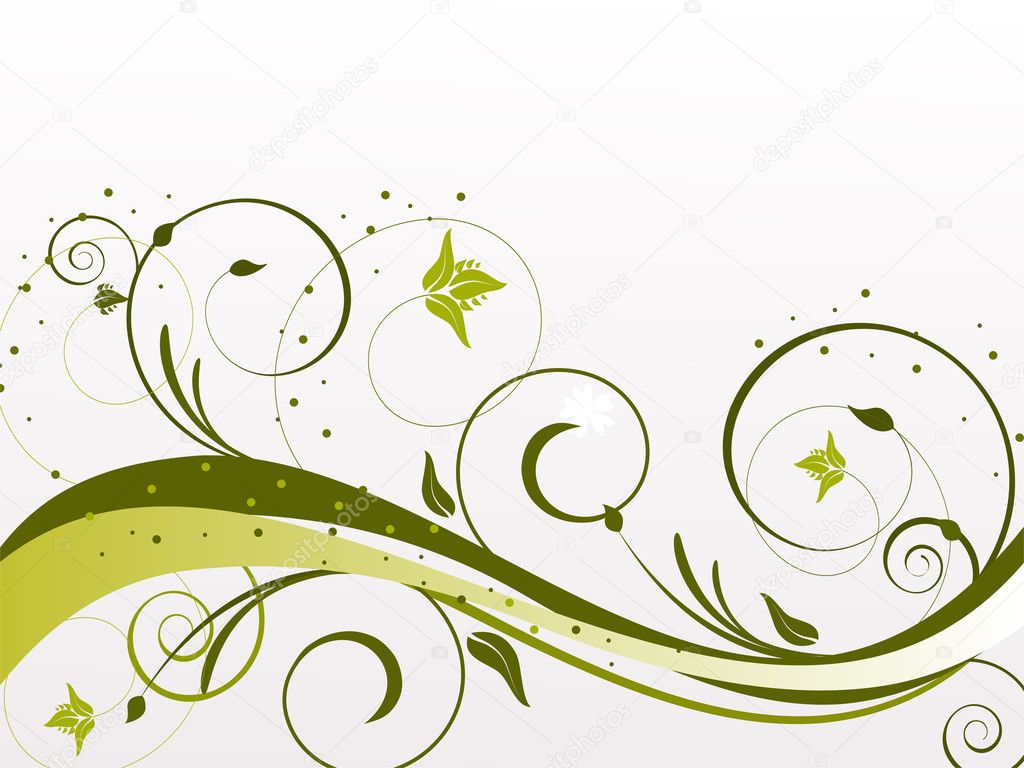Vector illustration of a colorful floral background  Stock Vector #3046902