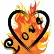 Royalty-Free Stock Vector Image: Fire and love