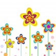 Funny flowers — Stock Vector