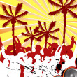 Beach party - Stock Vector