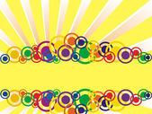 Colorful circle banner — Stock Vector