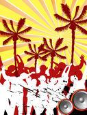 Festa na praia — Vetor de Stock
