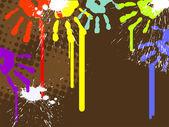Abstract handprints — Stock Vector