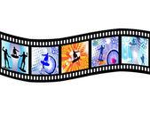 Filmstripe - sörf — Stok Vektör