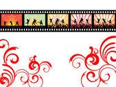 Dançando na faixa de filme — Vetor de Stock