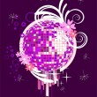 Colorful mirror ball — Imagen vectorial