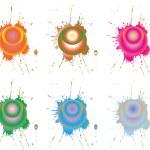 Dots on splashes — Stock Vector #3531571