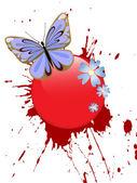 美しい蝶 — ストックベクタ