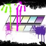 Colorful film stripe — Stock Vector #3603441